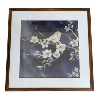 Bird & Cherry Blossom Tree Framed Print For Sale