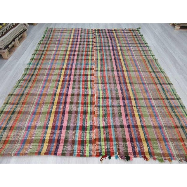 Vintage Turkish Colorful Rag Rug - 7′8″ × 10′8″ - Image 3 of 6