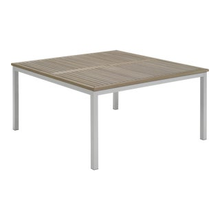 """60"""" Square Outdoor Dining Table, Vintage For Sale"""