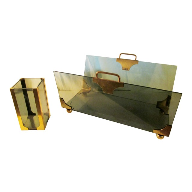 1970's Hollywood Regency Fireplace Log and Matches Holder For Sale