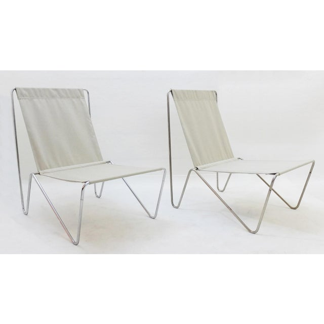 Pair of Verner Panton Bachelor Chairs, 1960's - New Canvas For Sale - Image 9 of 9