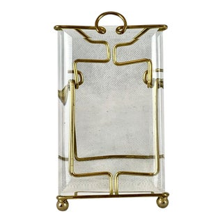 Antique French Brass and Bevelled Glass Photo Frame For Sale