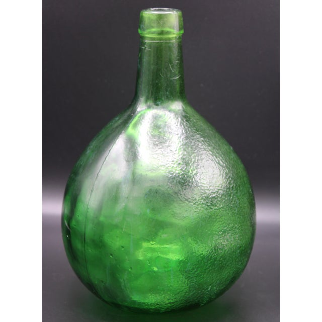 Green Antique French Demijohn For Sale - Image 8 of 10