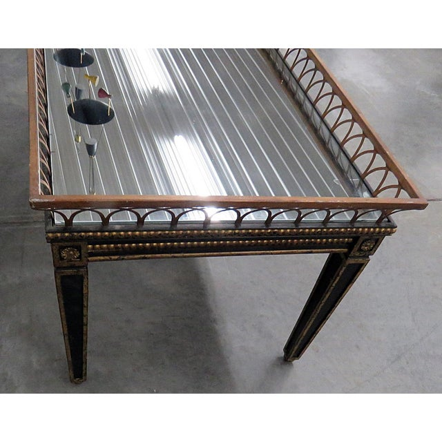 Gold Directoire Style Coffee Table For Sale - Image 8 of 9