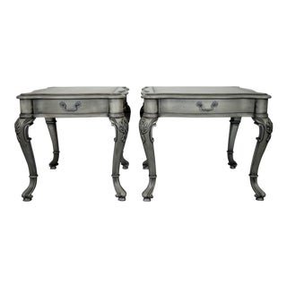 Century Gray Walnut Side Tables - a Pair For Sale