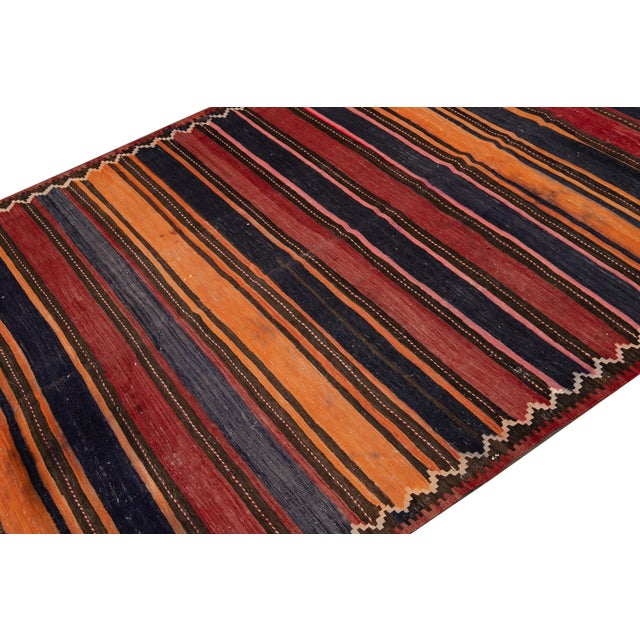 "Mid-20th Century Vintage Kilim Runner Rug 5' 2"" X 10' 10''. For Sale - Image 11 of 13"