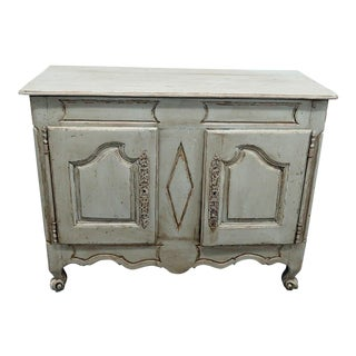 19th Century Shabby Chic Paint Decorated Cabinet For Sale