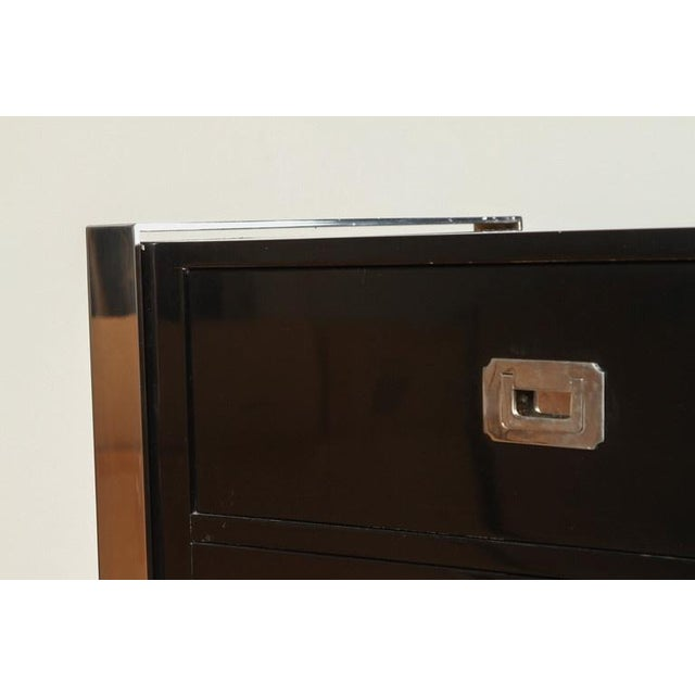 Steel & Wood Sideboard with Black Enamel Finish - Image 9 of 9