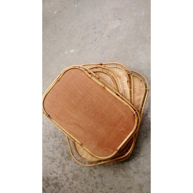 Bamboo & Wicker Serving Trays - Set of 4 - Image 3 of 3