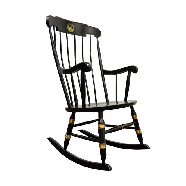 Vintage Sigill College University Nichols & Stone Windsor Rocking Chair Rocker For Sale - Image 11 of 11