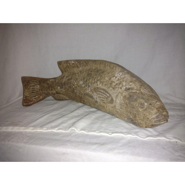 Ceramic Vintage Carved Clay Fish Sculpture For Sale - Image 7 of 7