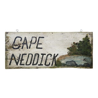 Vintage 'Cape Neddick' Hand Painted Sign For Sale