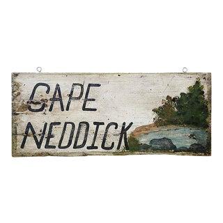 Vintage 'Cape Neddick' Sign For Sale