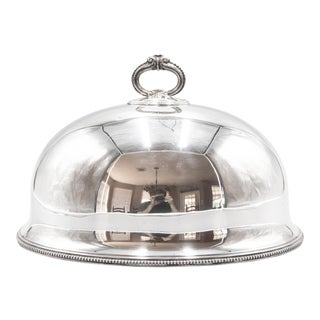 Antique English Silver Plate Meat Dome For Sale