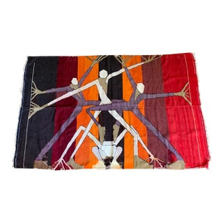 Vintage Mexican Modern Tapestry For Sale