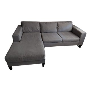 "Modern Mid Century Style West Elm ""York"" Sofa For Sale"