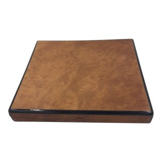 Alfred Dunhill Burl Wood Cigar Box For Sale