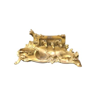 Brass Equestrian Desk Caddy For Sale