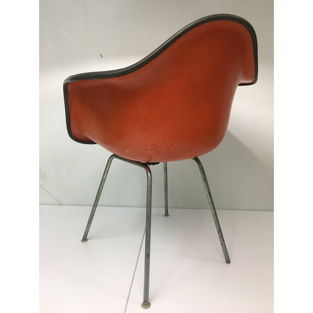 1950s Vintage 'Dax' Armchair in Orange Naugahyde by Charles Eames for Herman Miller For Sale - Image 5 of 13