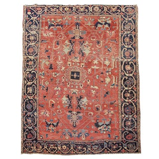 Blue & Orange Serapi Rug - 8′1″ × 12′2″