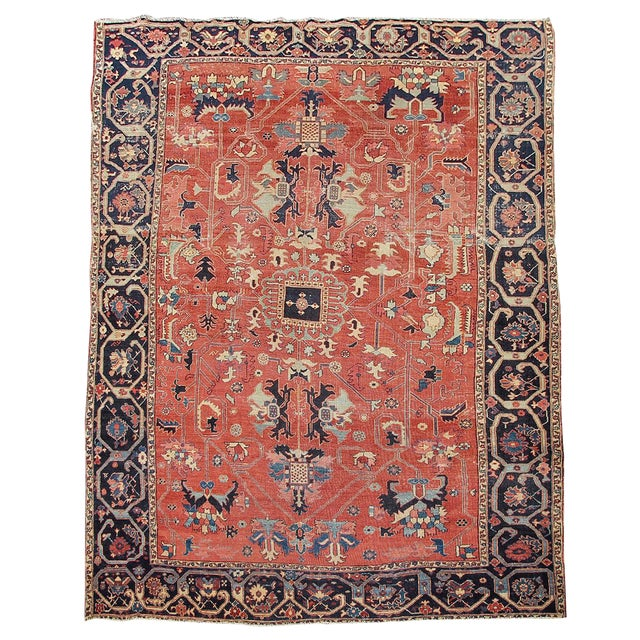Serapi Persian Carpet - 8′1″ × 12′2″ For Sale
