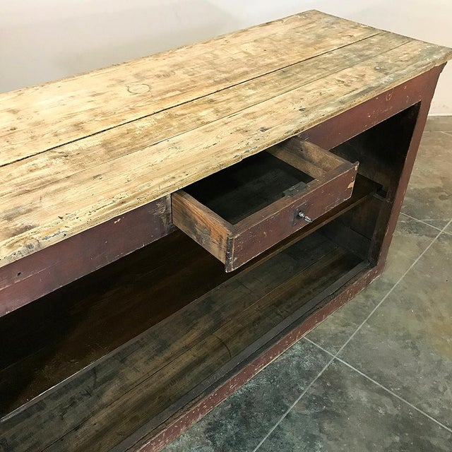 Wood 19th Century Rustic County French Store Counter For Sale - Image 7 of 11