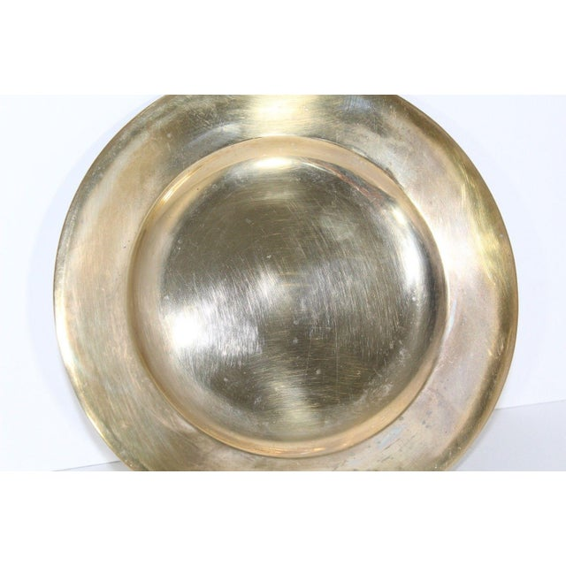 30s Dirilyte Dirigold Sweden Charger Sandwich Plate Charger Plate Unpolished with nice patina spots Measurements are: 7...