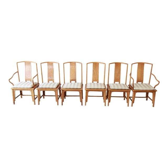Baker Furniture Chinoiserie Ming Dining Chairs - Set of 6 For Sale