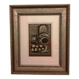 "Image of ""Untitled"" Wood Block Print, Signed Proctor '80 For Sale"