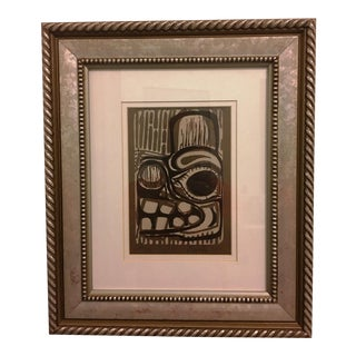 """Untitled"" Wood Block Print, Signed Proctor '80 For Sale"