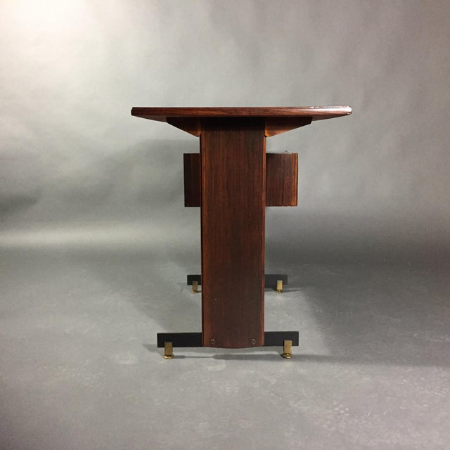 Mid-Century Modern Midcentury Continental Mahogany Dressing Table or Small Desk For Sale - Image 3 of 10