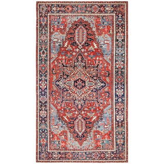 Large Oriental Antique Persian Serapi Heriz Rug - 9′2″ × 16′ For Sale