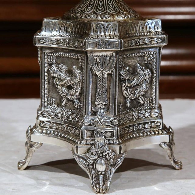 19th Century French Louis XV Silver Plated Epergne Centerpiece For Sale - Image 5 of 8