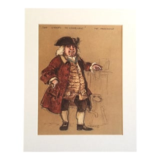"Vintage Stratford Festival Design Folio, Oliver Goldsmith's ""She Stoops to Conquer"" Costume Print For Sale"