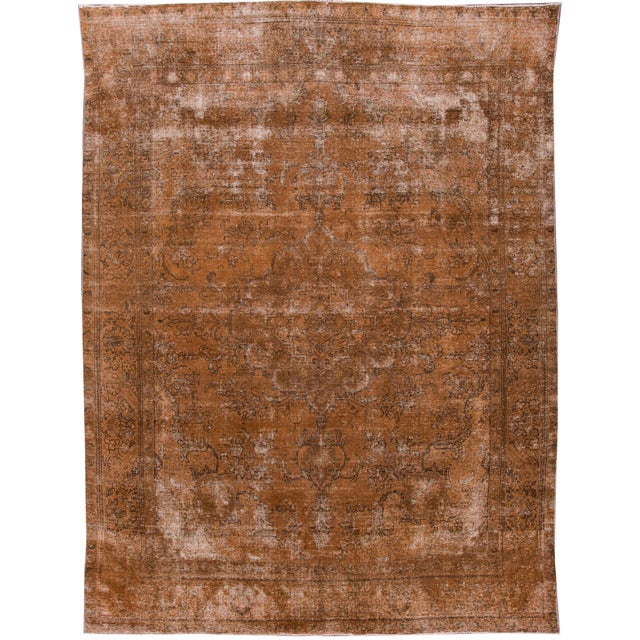 "Apadana - Vintage Overdyed Rug, 12'6"" X 9'4"" For Sale In New York - Image 6 of 6"
