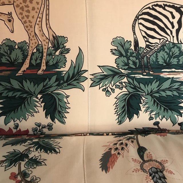 Fabric 1980s Vintage Pearson British West Indies Jungle Print Sofa For Sale - Image 7 of 13