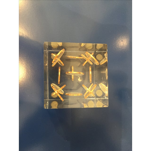 Vintage Lucite Coin Cube - Image 5 of 5