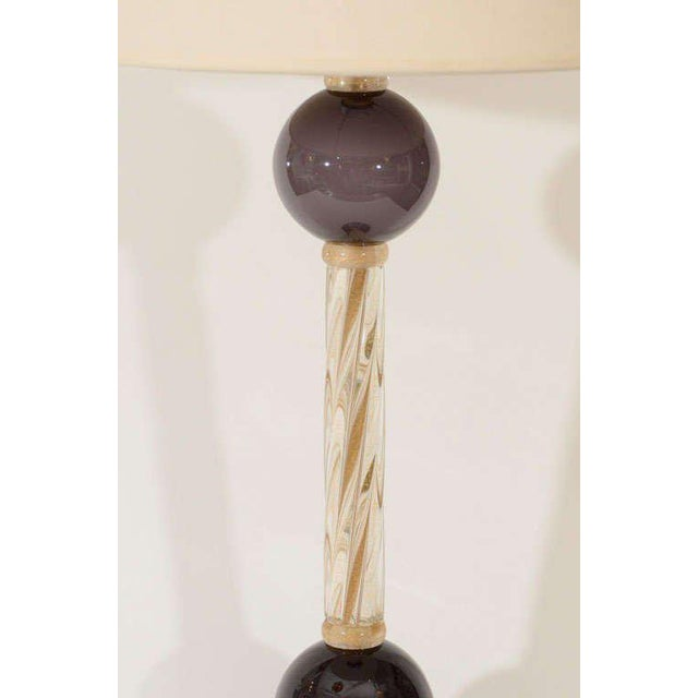 1970s Murano Glass Lamps - A Pair For Sale - Image 5 of 8