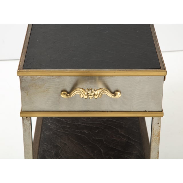 Metal Brass and Steel Console For Sale - Image 7 of 13