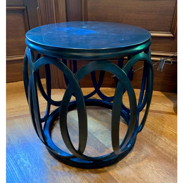 1990s Chinoiserie Barbara Barry Bracelet Drum Table For Sale In Boston - Image 6 of 6