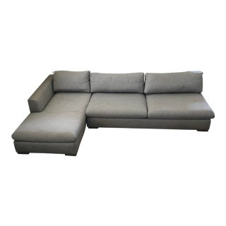 Restoration Hardware Modena Armless Couch and Chaise For Sale