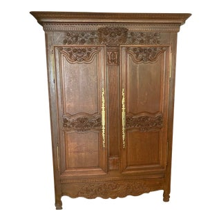 1800's French Provincial Armoire For Sale