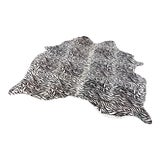Image of Zebra Print Rug - 5′9 × 5'5″** - Free Shipping! For Sale