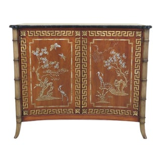 John Widdicomb Chinese Chippendale 2 Door Commode Console Cabinet For Sale