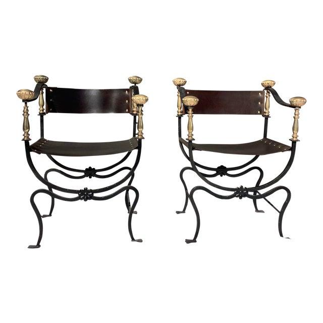 1960s Italian Savaronola Style Chairs, a Pair For Sale