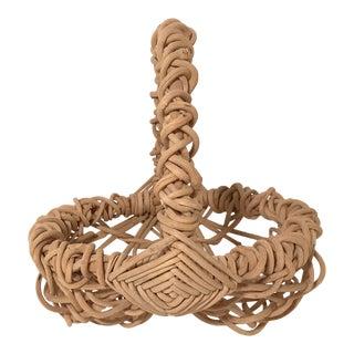Vintage Woven Art Basket For Sale