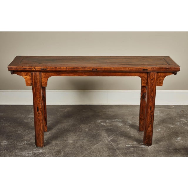 19th C. Chinese Ming Style Altar Table For Sale - Image 4 of 10