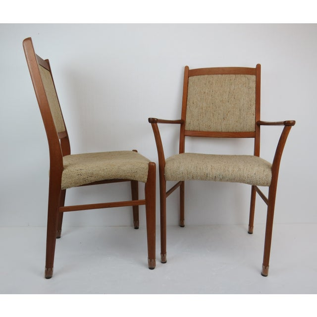 Wood 1960s Sculptural Mid-Century Modern Danish Teak Dining Chairs - Set of 4 For Sale - Image 7 of 13