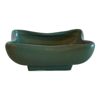 Mid-Century Modern McCoy Dark Green Ceramic Planter For Sale