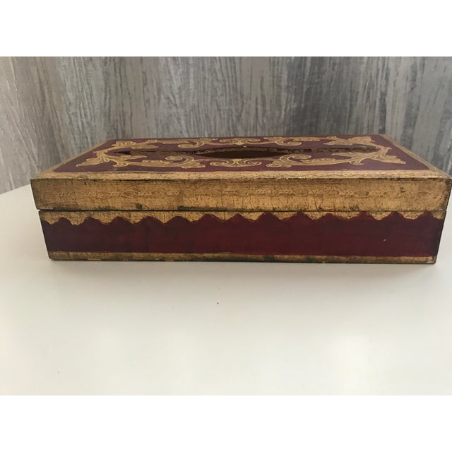 Vintage Italian Florentine Tissue Box - Image 3 of 5